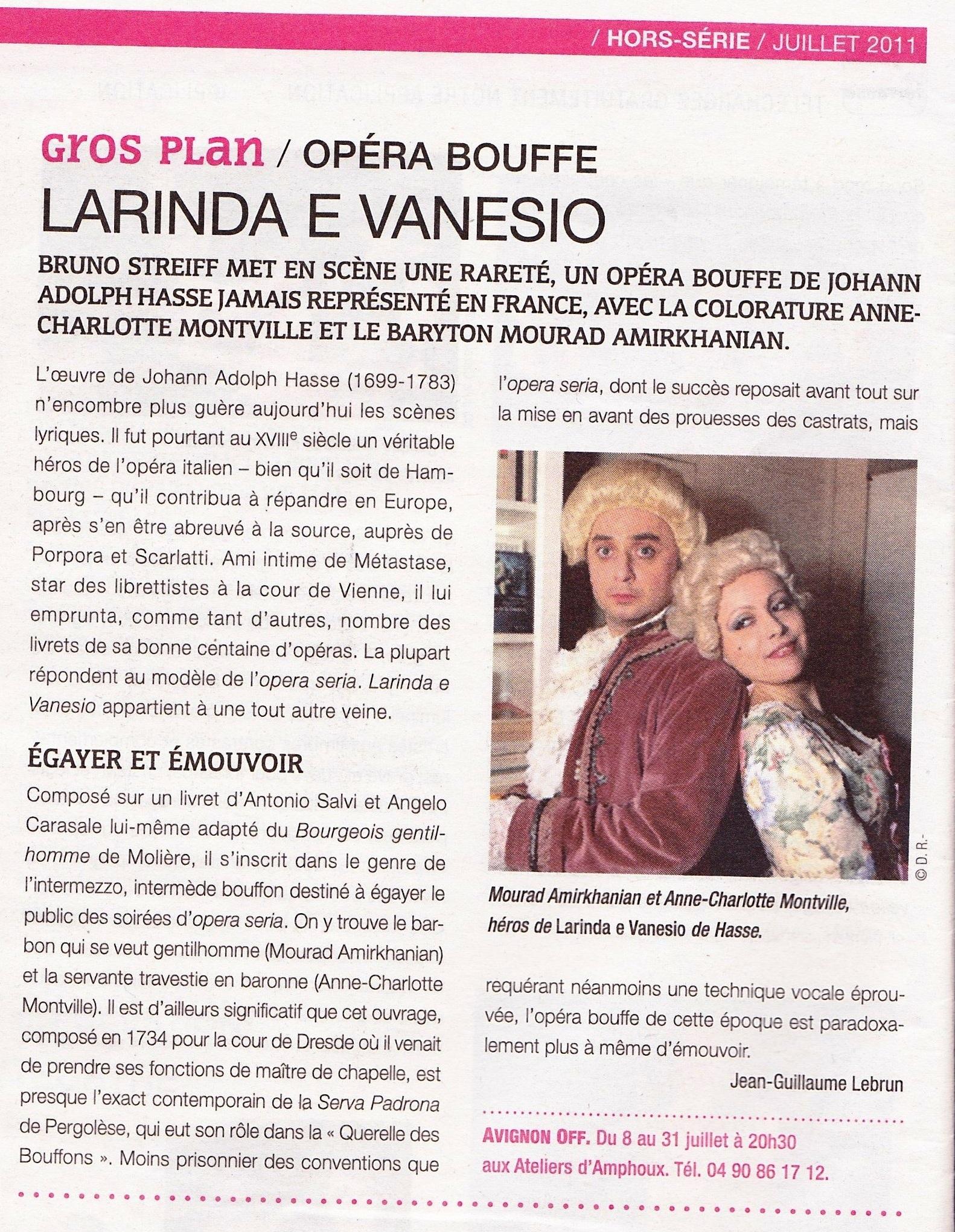 GROS PLAN – Anne-Charlotte Montville et Adam Barro – Hasse  – Avignon 2011 Larinda e Vanesio – La Terransse – Copie